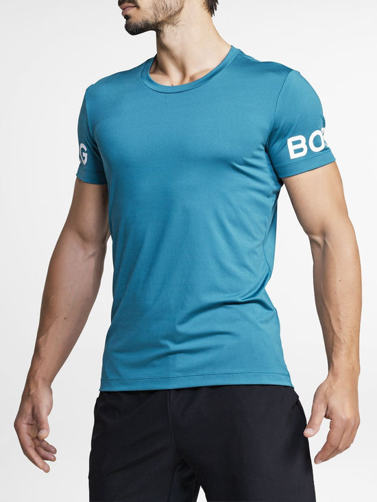BJORN BORG Workout Training Tee Men's Short Sleeve T-Shirt Corsair Blue - Activemen Clothing