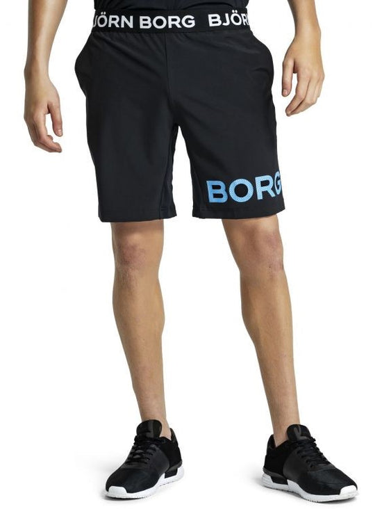 BJORN BORG August Training Workout Shorts Black / Blue - Activemen Clothing
