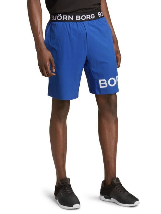 BJORN BORG August Long Blue Workout Training Shorts - Activemen Clothing