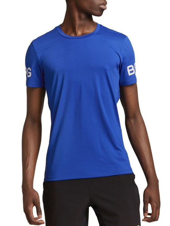 BJORN BORG Workout Training Tee Men's Short Sleeve Performance T-Shirt Blue - Activemen Clothing