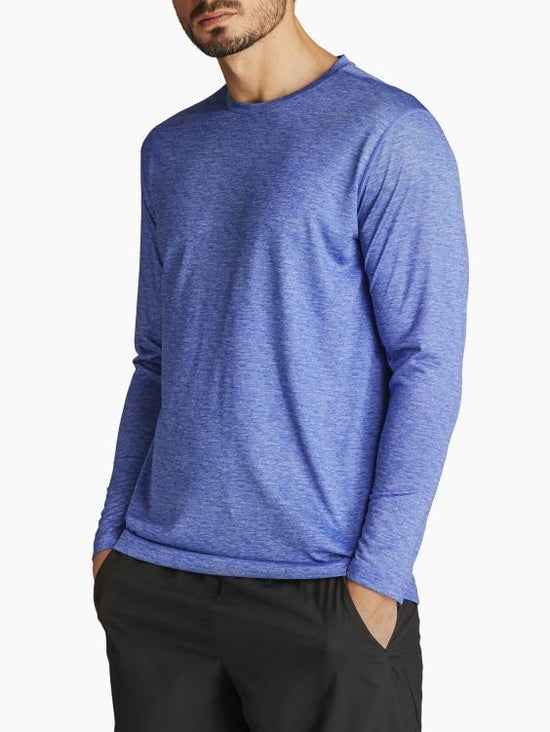 BJORN BORG Axton Long Sleeve Tee Performance Workout Training Top Blue - Activemen Clothing