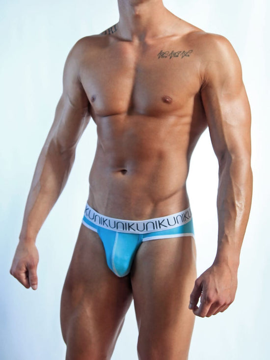 NIKU Pouch Briefs Mesh Fabric Men's Underwear Turquoise - Activemen Clothing