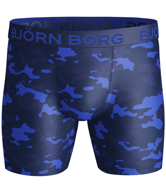 BJÖRN BORG Tonal Blue Camo Performance Boxer Shorts - Activemen Clothing