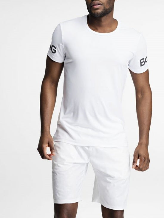 BJORN BORG Workout Training Tee Men's Short Sleeve T-Shirt White - Activemen Clothing