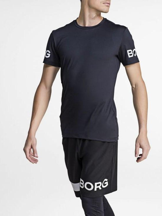 BJORN BORG Workout Training Tee Men's Short Sleeve T-Shirt Black - Activemen Clothing