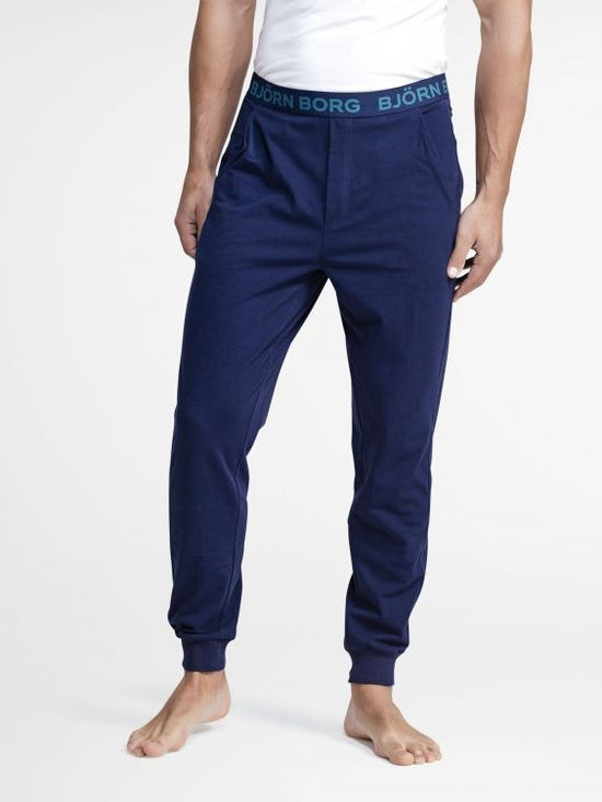 BJORN BORG Cuffed Lounge Pants Men's Lounge Wear Navy - Activemen Clothing