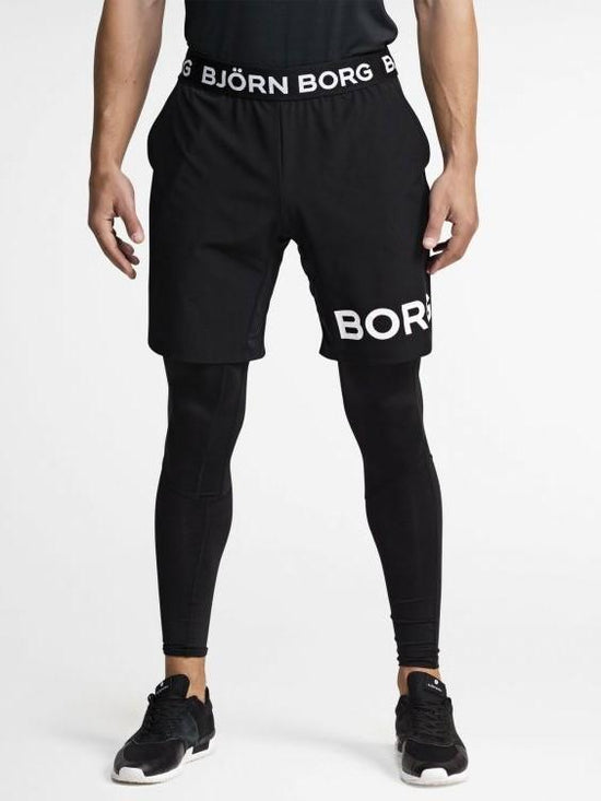 BJORN BORG Borg August Shorts Gym Shorts Black - Activemen Clothing