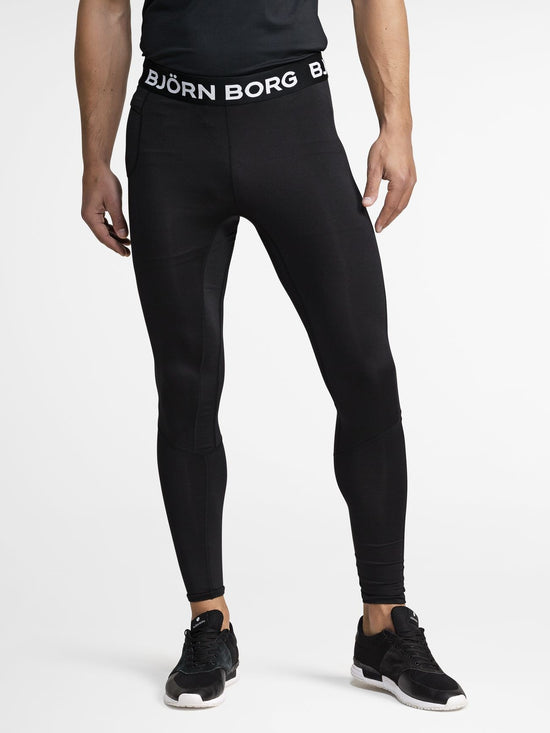 BJORN BORG Aidan Performance Base Layer Trousers Black - Activemen Clothing