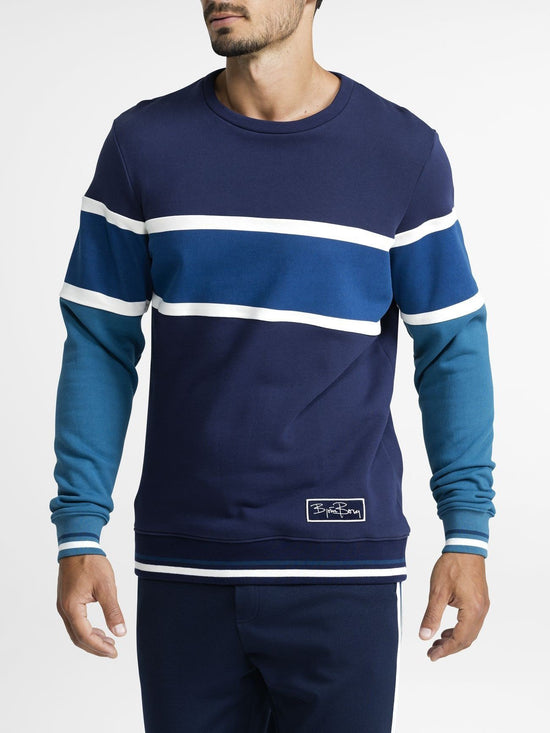 BJORN BORG Signature Archive Crew Jumper Sweater Men's Long Sleeve Top Blue - Activemen Clothing