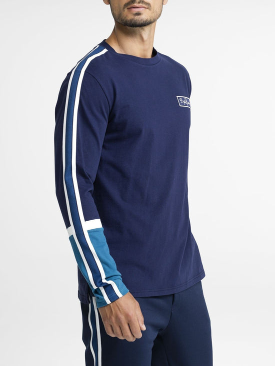 BJORN BORG Signature Archive Long Sleeve Top Men's Sweater Blue - Activemen Clothing