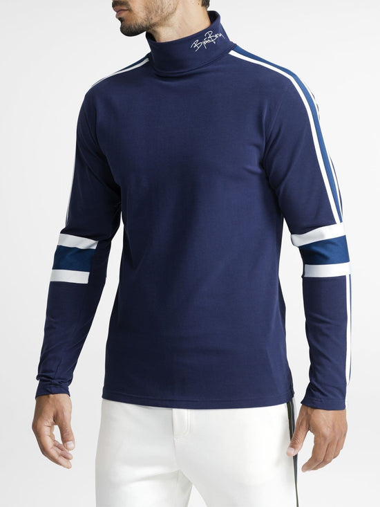 BJORN BORG Signature Archive Roll-Neck Longsleeve Top Men's Sweater Jumper Blue - Activemen Clothing