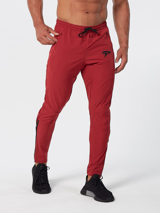 PHYSIQ APPAREL Aero Bottoms Men's Track Pants Joggers Red - Activemen Clothing