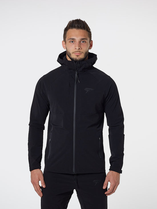 PHYSIQ APPAREL Aero Jacket Men's Zipped Track Top Black - Activemen Clothing
