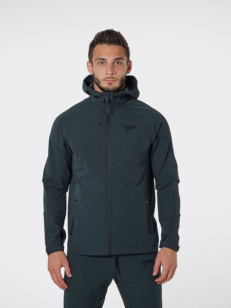 PHYSIQ APPAREL Aero Jacket Men's Zipped Track Top Alpine Green - Activemen Clothing