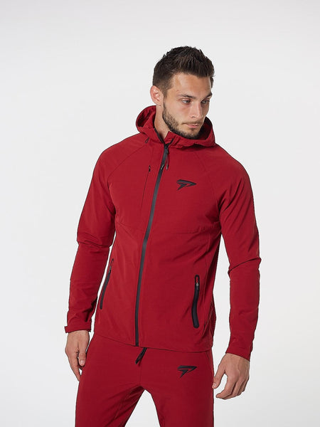 PHYSIQ APPAREL Aero Jacket Men's Zipped Track Top Red - Activemen Clothing