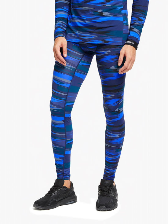 BJORN BORG Hunter Leggings Underlayers Men's Tights Meggings Frequency Blue - Activemen Clothing
