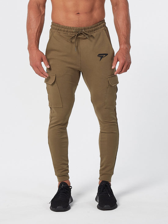 PHYSIQ APPAREL Cargo Bottoms Men's Track Pants Joggers Khaki - Activemen Clothing