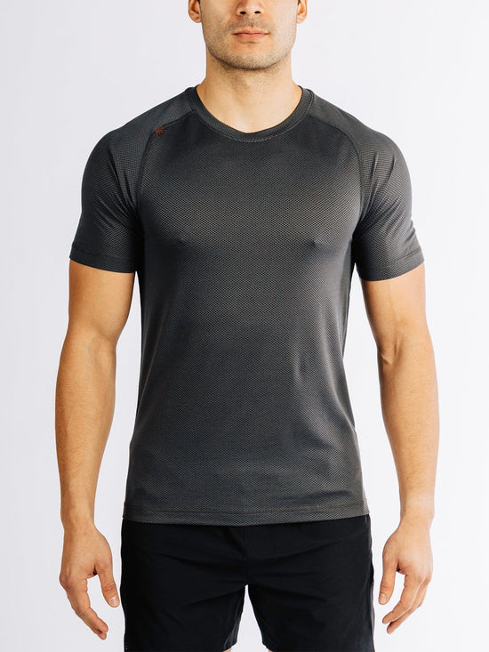Glacier Delta Gym T-Shirt DryFit Workout Shortsleeve Tee Black - Activemen Clothing