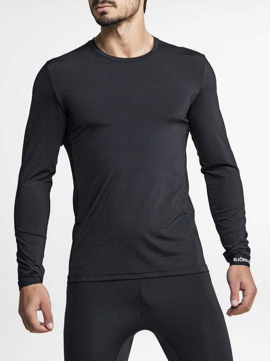 BJORN BORG Hamilton Long Sleeve Top Men's Base Layer Black - Activemen Clothing