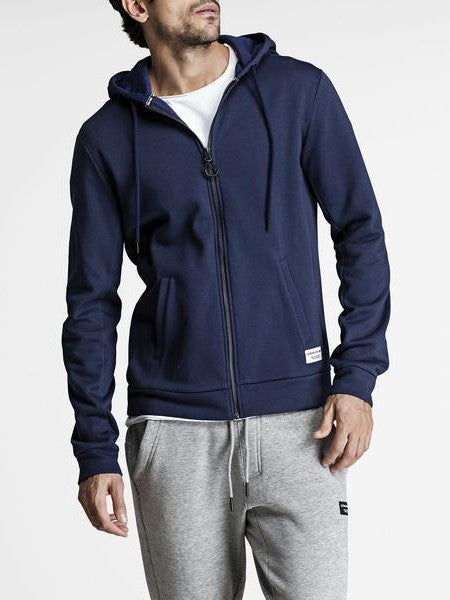 BJORN BORG Hoodie Men's Track Jacket Zipped Top Navy - Activemen Clothing