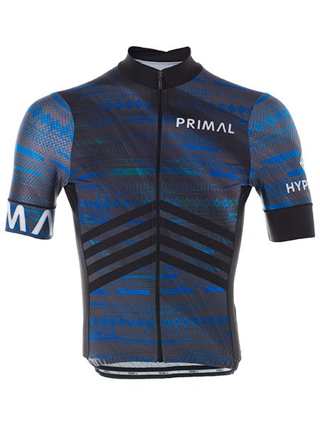 PRIMAL Hyperion Helix 2.0 Jersey Men's Short Sleeve Top Cycling Jersey Blue - Activemen Clothing