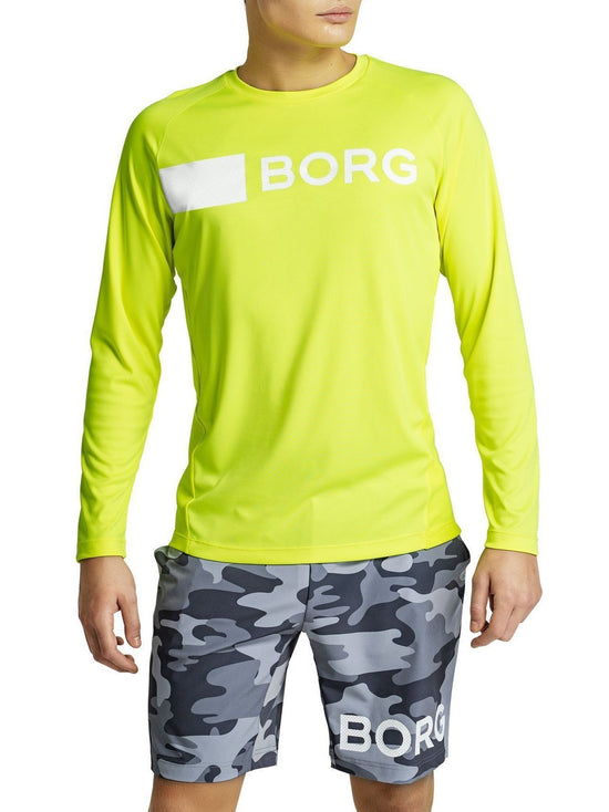 BJORN BORG Ante Long Sleeve Tee Men's Workout Top Yellow - Activemen Clothing