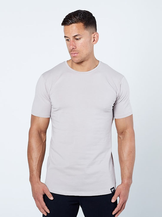 PHYSIQ APPAREL Supreme Lifestyle Tee Men's Short Sleeve T-Shirt Taupe Grey - Activemen Clothing