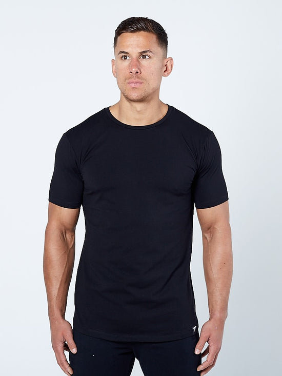 PHYSIQ APPAREL Supreme Lifestyle Top Men's Short Sleeved Tee T-Shirt Black - Activemen Clothing