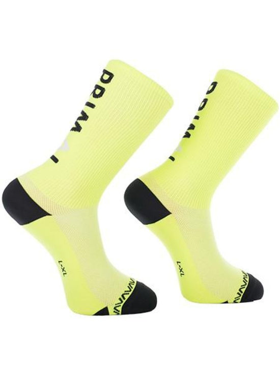 PRIMAL Logo Men's Cycling Socks Neon Yellow - Activemen Clothing