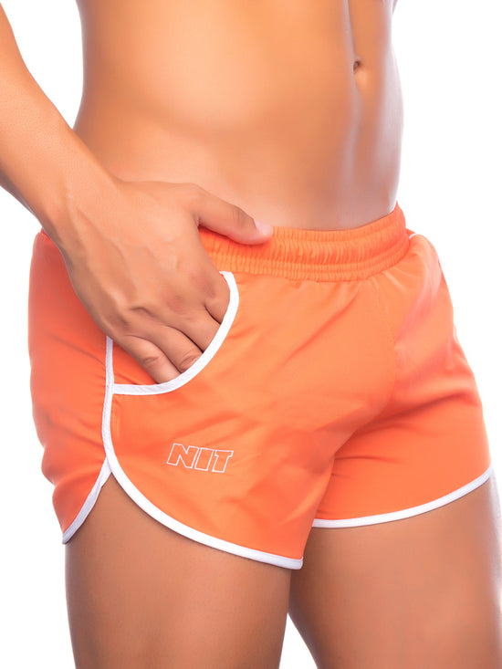NIT Fox Swimming Shorts Men's Swimwear Short Shorts Orange - Activemen Clothing