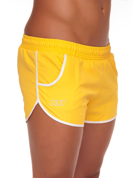 NIT Fox Swimming Shorts Men's Swimwear Short Shorts Yellow - Activemen Clothing