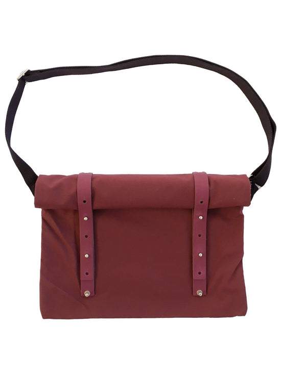 VEL-OH Nip Out iPad Bag Urban Cycling Musette Backpack Burgundy - Activemen Clothing