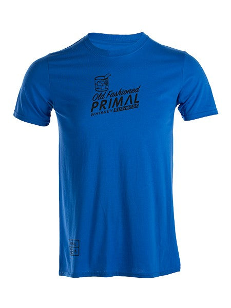 PRIMAL Short Sleeve Top Men's Retro Cycling T-Shirt Whiskey Business Tee Blue - Activemen Clothing