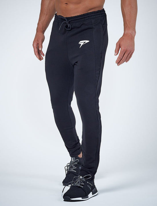 PHYSIQ APPAREL PerformLite Tapered Bottoms Men's Track Pants Joggers Black - Activemen Clothing