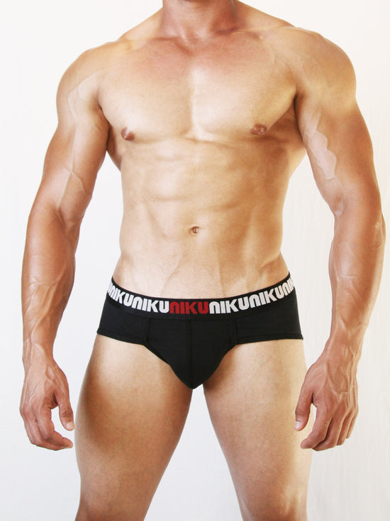 NIKU Pouch Briefs Men's Underwear Underpants Black - Activemen Clothing