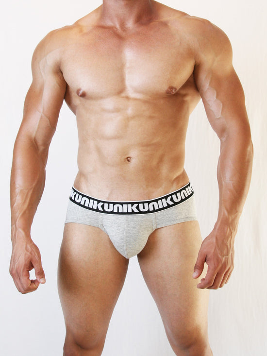NIKU Pouch Briefs Men's Underwear Underpants Grey - Activemen Clothing