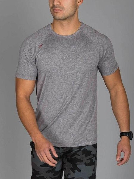 RHONE Reign Workout Training Tee Men's Short Sleeve T-Shirt Legacy Grey - Activemen Clothing