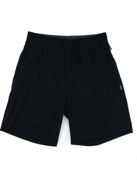 "RHONE Mako 7"" Unlined Gym Shorts Men's Zipped Pocket Shorts Black - Activemen Clothing"