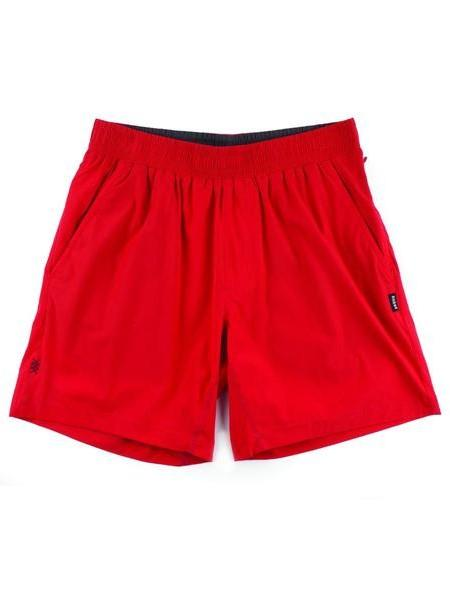 "RHONE Mako 7"" Unlined Gym Shorts Men's Zipped Pocket Shorts Red - Activemen Clothing"