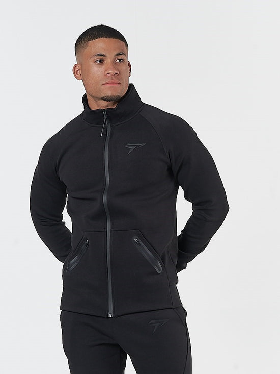 PHYSIQ APPAREL Storm Track Jacket Men's Zipped Training Top Black - Activemen Clothing