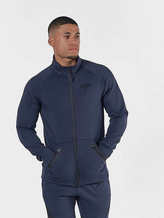 PHYSIQ APPAREL Storm Track Jacket Men's Zipped Training Top Navy - Activemen Clothing