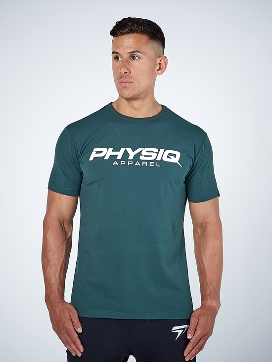 PHYSIQ APPAREL Supreme Short Sleeve Top Men's Tee T-Shirt Racing Green - Activemen Clothing