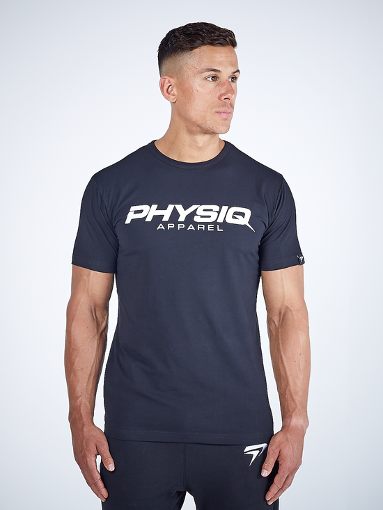 PHYSIQ APPAREL Supreme Short Sleeve Top Men's Tee T-Shirt Black - Activemen Clothing