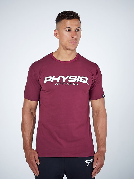 PHYSIQ APPAREL Supreme Short Sleeve Top Men's Tee T-Shirt Plum - Activemen Clothing