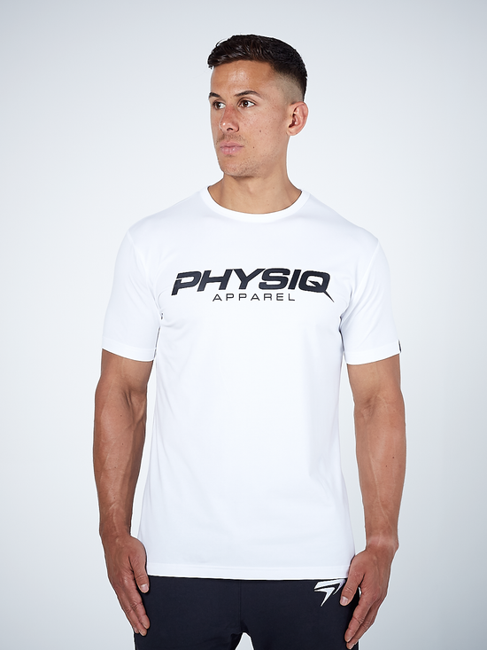 PHYSIQ APPAREL Supreme Short Sleeve Top Men's Tee T-Shirt White - Activemen Clothing