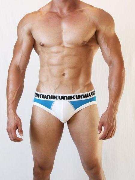 NIKU Two Tone Briefs Men's Underwear Blue and White - Activemen Clothing