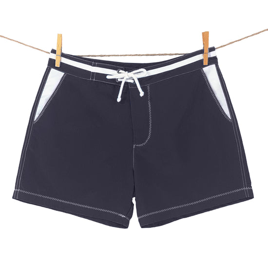 BLUEBUCK Swim Shorts Men's Swimwear 100% Recycled Marine Plastic Navy - Activemen Clothing