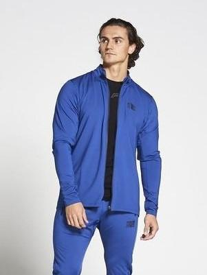 PURSUE FITNESS Lightweight Tapered Zipped Top Men's Track Jacket Blue - Activemen Clothing