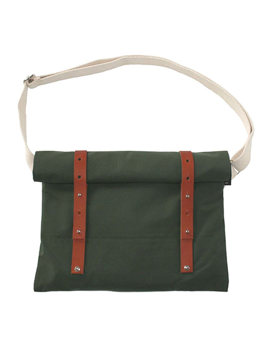 VEL-OH Nip Out Bag Cycling Inspired Musette Backpack Butt Bag Moss Green - Activemen Clothing