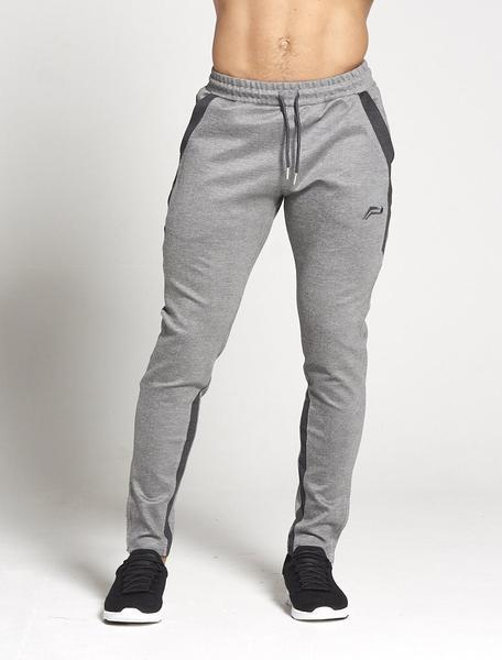 PURSUE FITNESS Men's Track Pants Pro-Fit Sport Joggers Bottoms Grey and Black - Activemen Clothing
